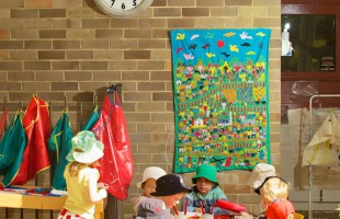 540mm Outdoor Clock, Mittagong Preschool, NSW