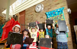 540mm Outdoor Clock becomes a learning tool for Mittagong Preschoolers, NSW
