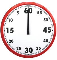 500mm Countdown Clock in Signal Red